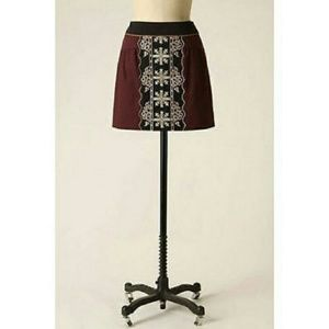 ANTHROPOLOGIE Floreat Eugenia Tribal Mini Skirt